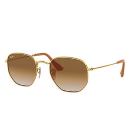 Ray Ban Hexagonal Copper Bronze Copper Frame Crystal Brown Gradient Grey Lenses