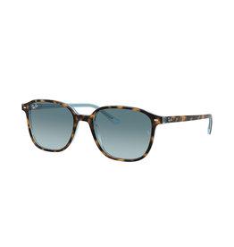Ray Ban Leonard Havana on Light Blue Frame Crystal Blue Gradient Gray Lenses