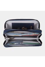 Travelon RFID BLocking Double Zip Wallet Ocean