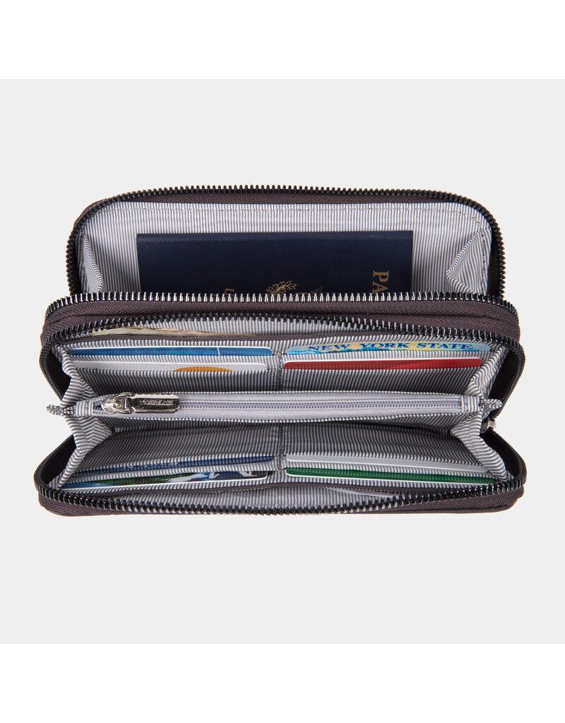 Travelon RFID BLocking Double Zip Wallet Smoke
