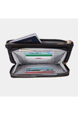 Travelon RFID Blocking Phone Clutch Wallet Black
