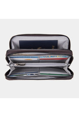 Travelon RFID Blocking Phone Clutch Wallet Smoke