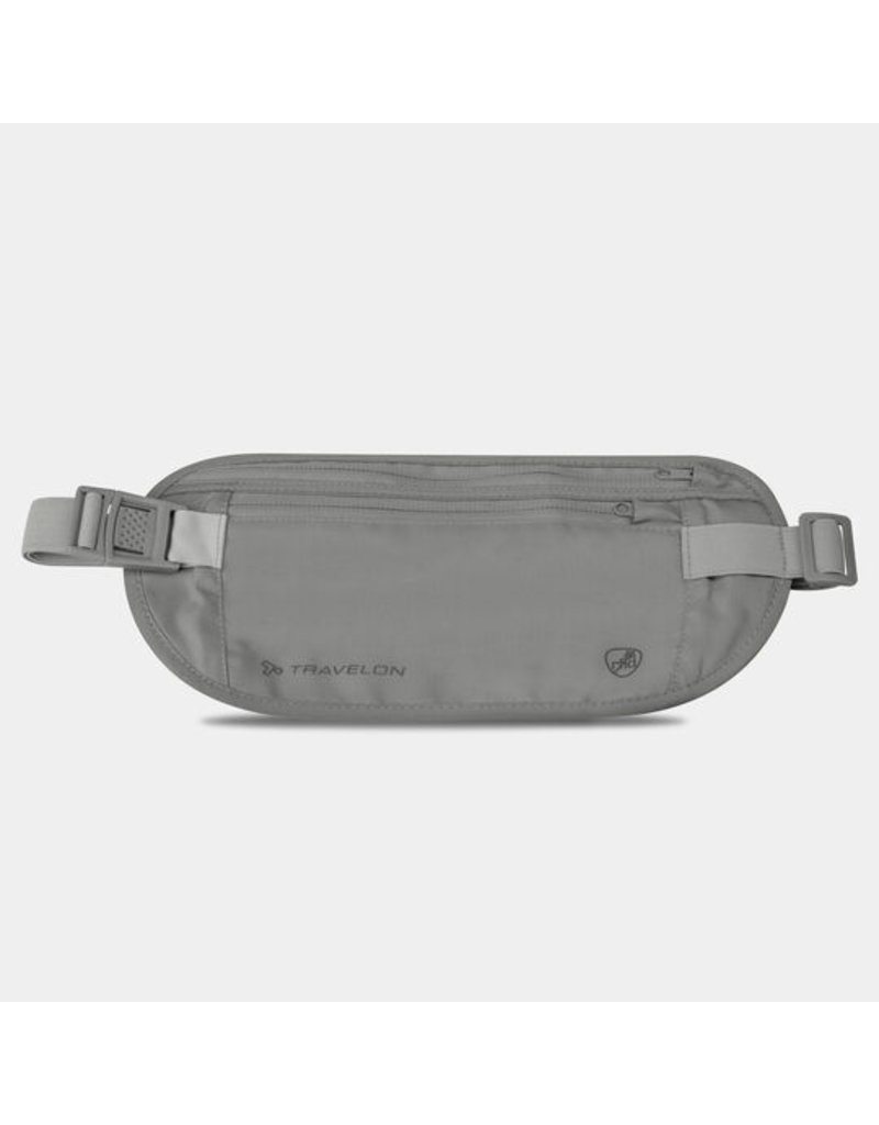 Travelon RFID Blocking Undergarment Waist Pouch Gray