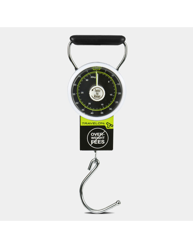 Travelon Stop & Lock Luggage Scale with Tape Measure