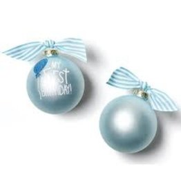 Coton Colors My First Birthday Boy Ornament