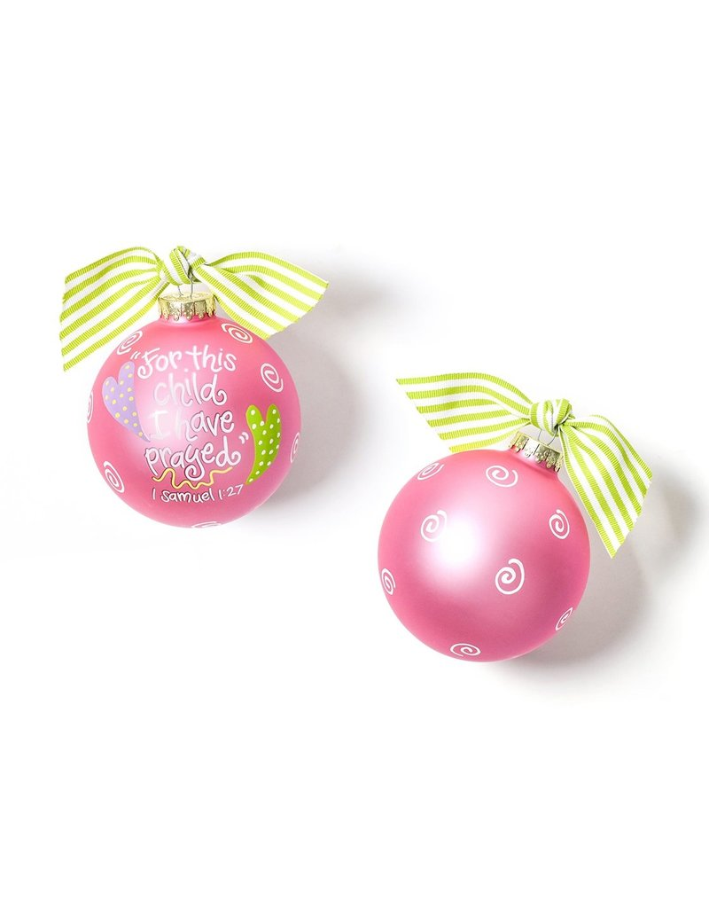 Coton Colors For This Child I Have Prayed Pink Ornament