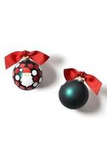 Coton Colors HO HO HO Santa Glass Ornament