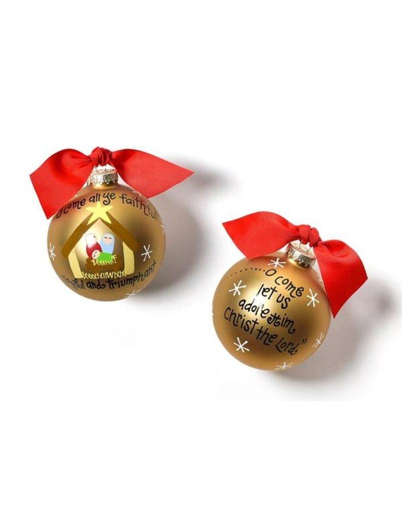 Coton Colors O Come All Ye Faithful Ornament