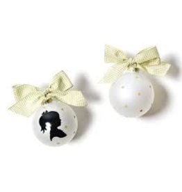 Coton Colors Girl Silhouette Ornament