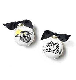 Coton Colors Happy Graduation Glass Ornament