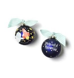 Coton Colors Out In Space Glass Ornament