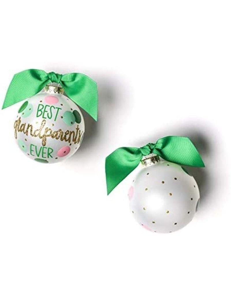 Coton Colors Best Grandparents Ever Glass Ornament
