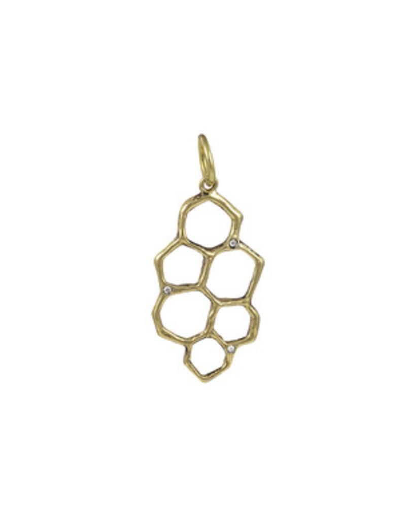 Waxing Poetic Honey love Pendant-Brass