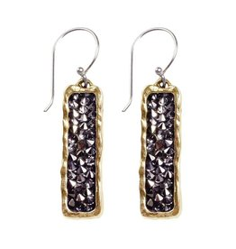 Waxing Poetic Kristal Verve Earrings - Dark