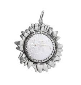 Waxing Poetic Moon Daisy Large Silver White Pearl-SS