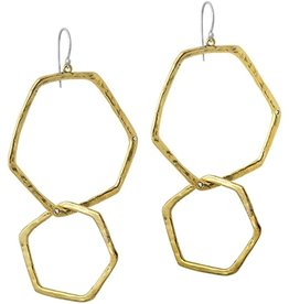 Waxing Poetic Honey Love Interlocking Hoop Earring