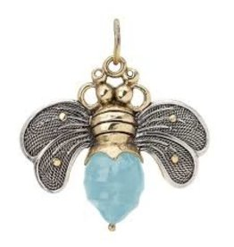 Waxing Poetic Bee Brave Pendant Aqua