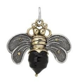 Waxing Poetic Bee Brave Pendant Black