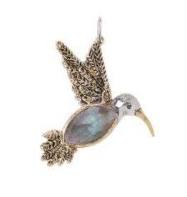 Waxing Poetic Fly Lightly Hummingbird Pendant