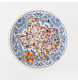 "One Hundred 80 Degrees Texas ""Paper'' Platter Melamine"