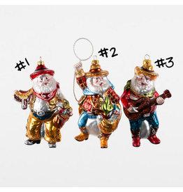 "One Hundred 80 Degrees Cowboy Santa Ornament 6.5"""