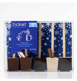 Ticket Chocolate Hot Chocolate on a Stick - 5 Pack
