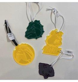 Ascend Laser Engraving Green Acrylic Bulldog Ornaments