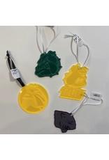 Ascend Laser Engraving Yellow Acrylic TLU Ornaments