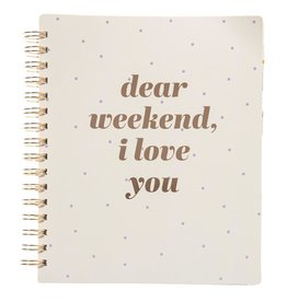 Graphique de France Spiral Undated Planner- Dear Weekend