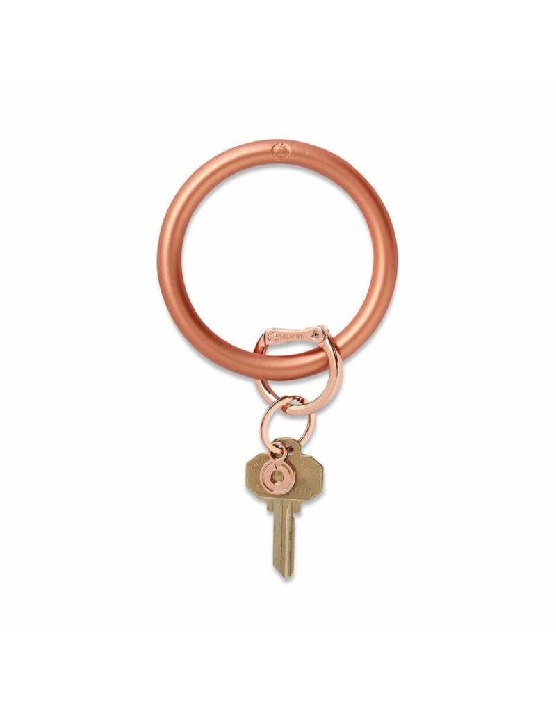 O-Venture Big O Key Ring - Metallic Silicone