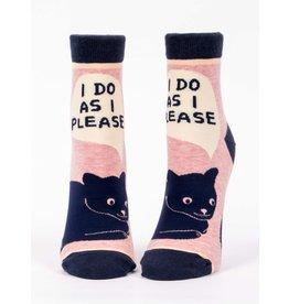 Blue Q Socks: I Do As I Please Ankle