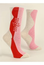 Blue Q Socks: Free Time Crew