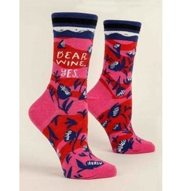 Blue Q Socks: Dear Wine, Yes Crew