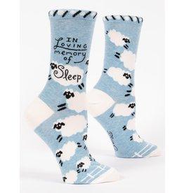 Blue Q Socks: Loving Memory Of Sleep Crew