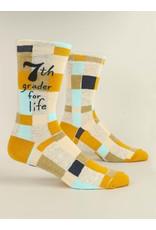 Blue Q Socks: 7th Grader For Life Men's