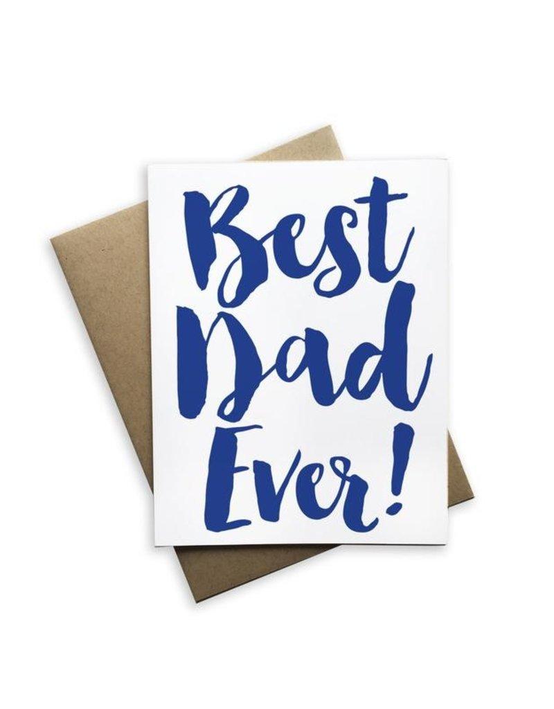 Tiramisu Paperie Best Dad Ever Notecard