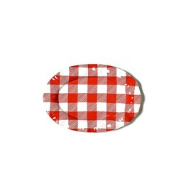 Coton Colors Buffalo 15 (Ruffle) Oval Platter Red