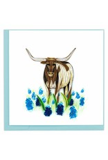 Quilling Cards Texas Longhorn