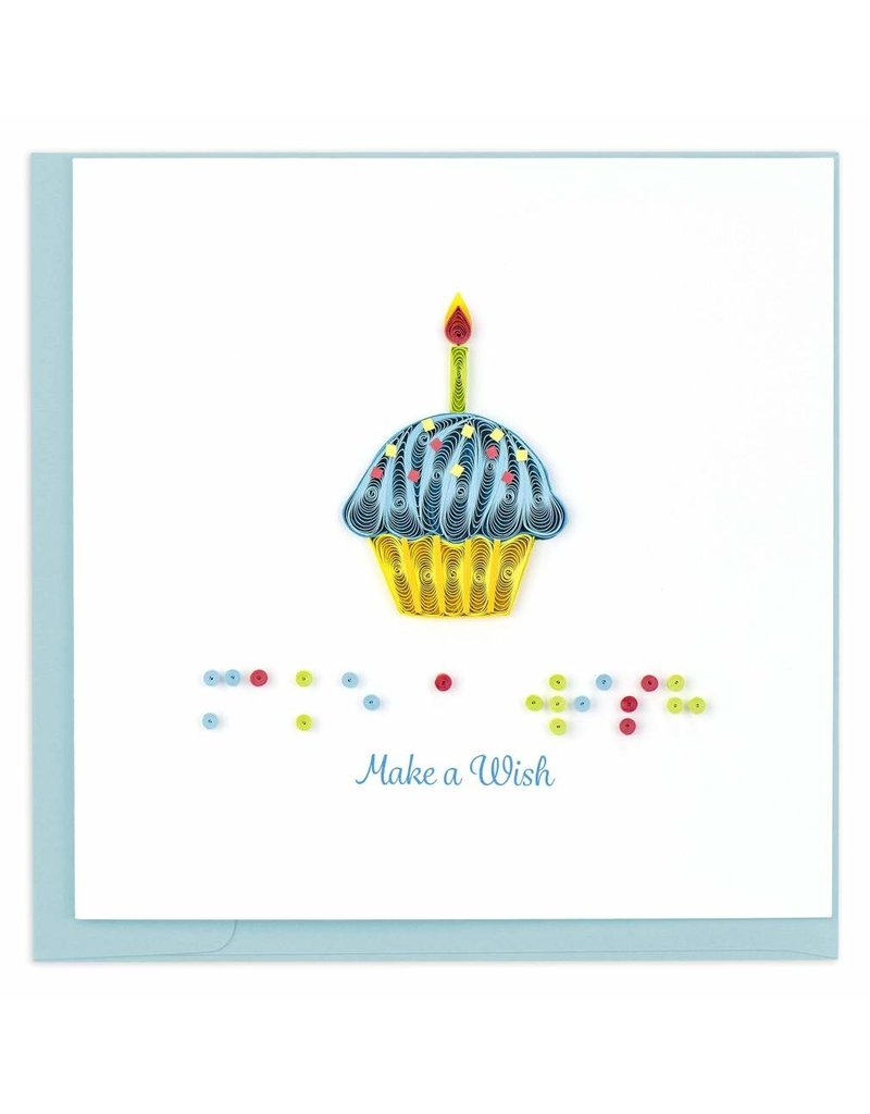 """Quilling Cards Braille """"Make a Wish"""""""