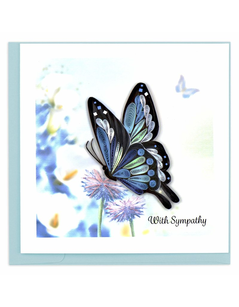 Quilling Cards Sympathy Butterfly