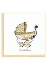 Quilling Cards Baby Carriage
