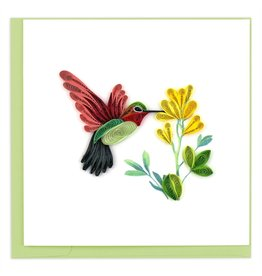 Quilling Cards Hummingbird