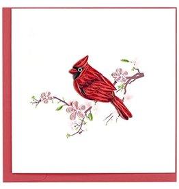 Quilling Cards Cardinal