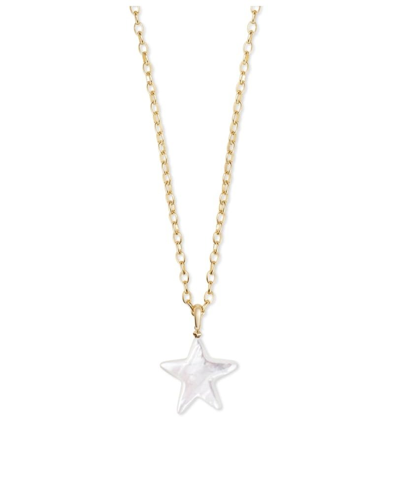Kendra Scott Carved Jae Star Long Necklace