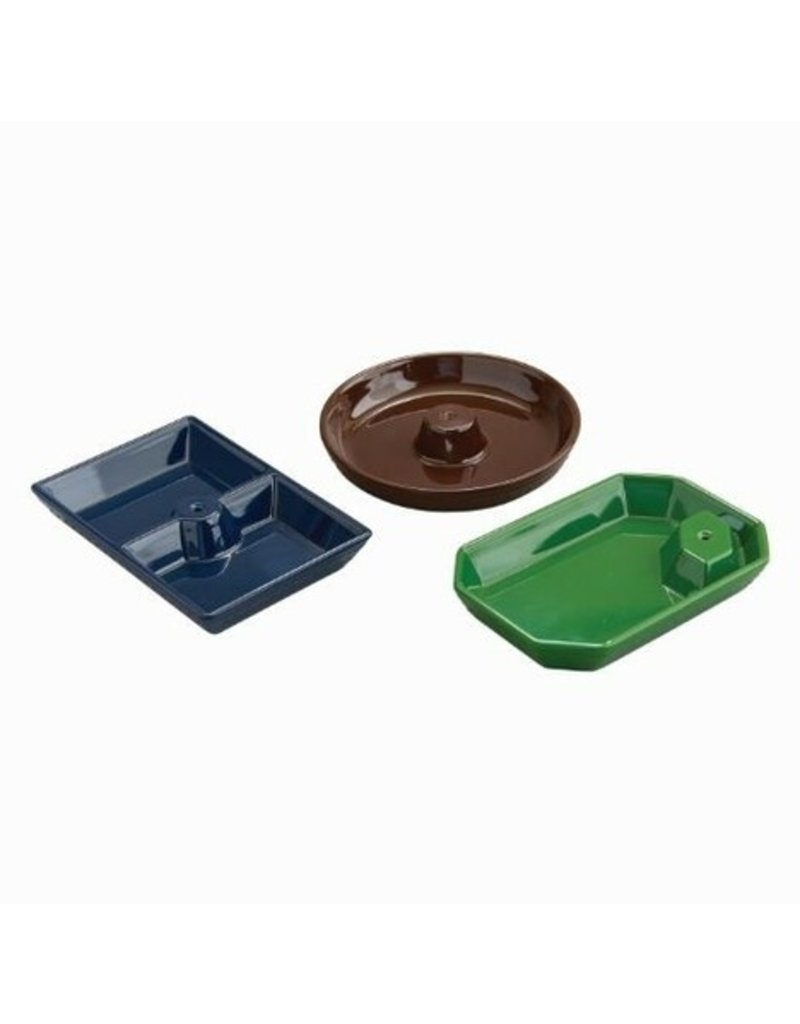 Nora Fleming Melamine Dainty Dishes Set of 3 (Black,Brown,Green)