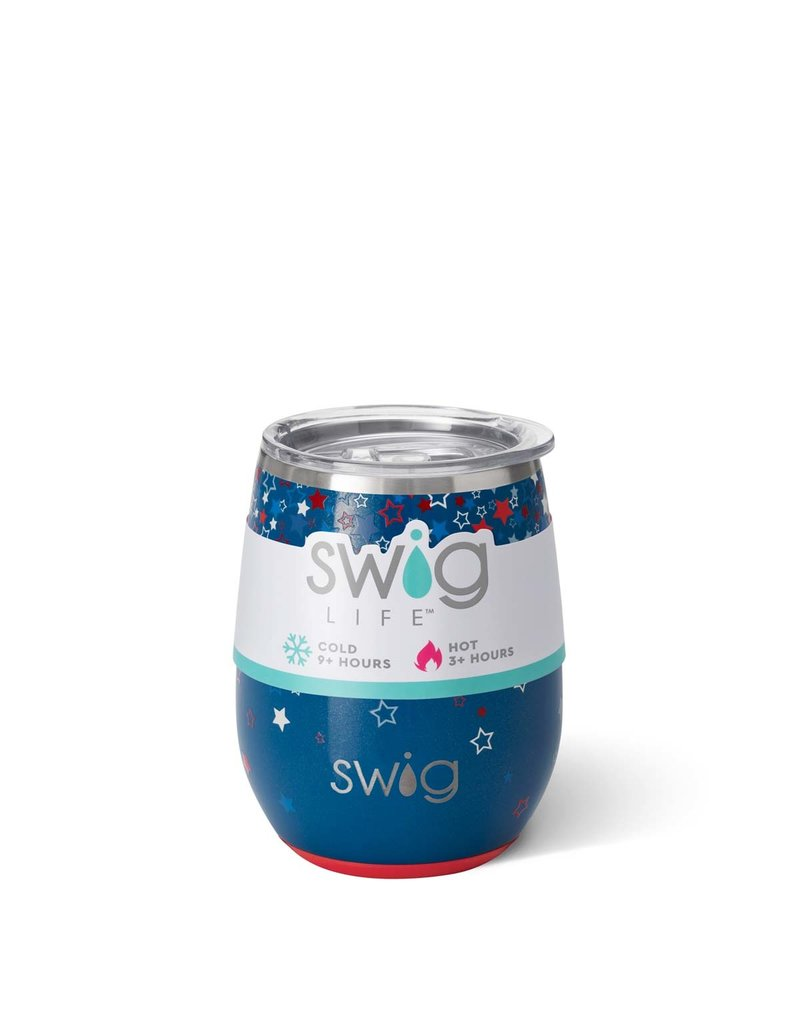 Swig Swig 14oz Stemless Wine Cup - Star Burst