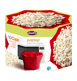Lifetime Brands PopTop Popcorn Popper - Cherry