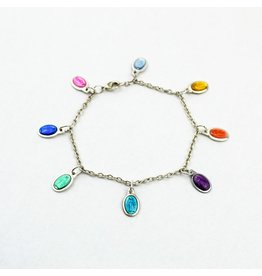 My Saint, My Hero Miracles Miraculous Mary Multi Color Bracelet - Silver