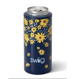 Swig Swig 12oz Skinny Can Cooler - Lazy Daisy
