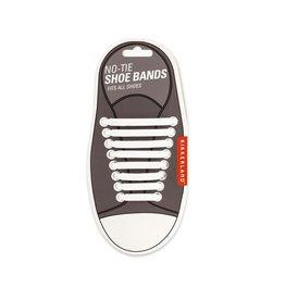 Kikkerland White No-Tie Shoe Bands